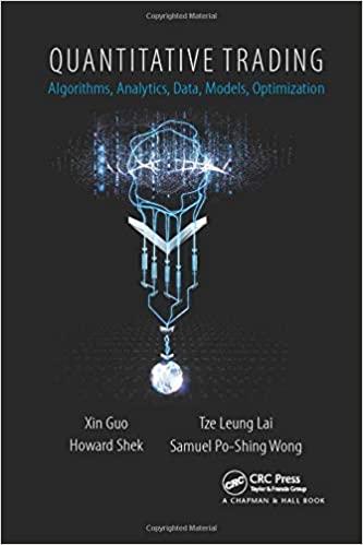 Quantitative Trading: Algorithms, Analytics, Data, Models, Optimization
