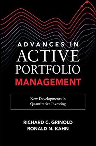 Advances in Active Portfolio Management: New Developments in Quantitative Investing